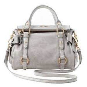 Miu Miu Mini Vitello Lux Bag in Nube